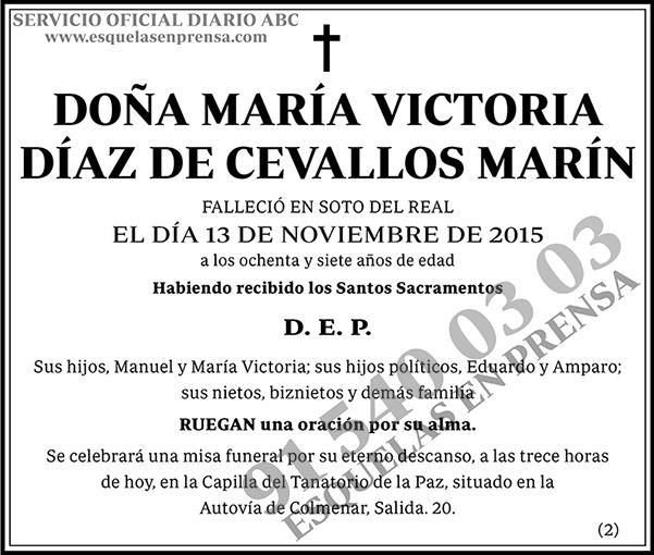 María Victoria Díaz de Cevallos Marín